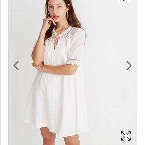 Madewell, Rainbow Smock Dress, Size L, Cream